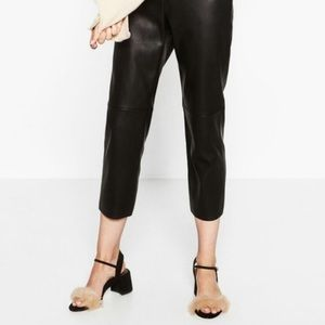 ZARA | Furry Chunky Sandal Heels Size 39